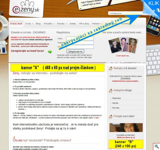 Reklama na E-zeny.sk
